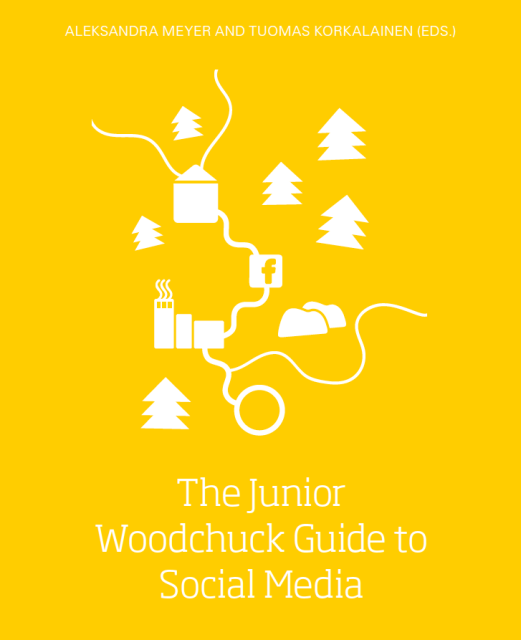 The Junior Woodchuck Guide to Social Media book cover.
