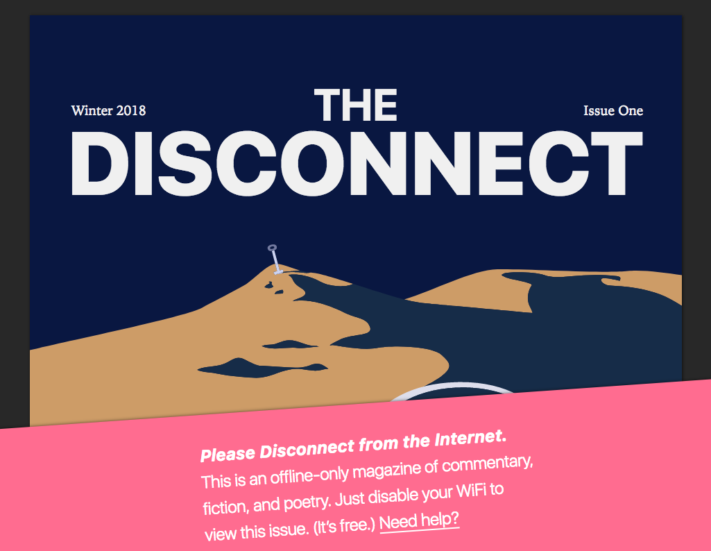 The Disconnect -julkaisun etusivu
